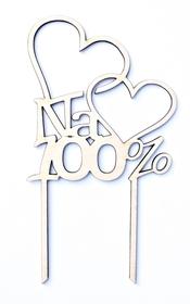 Topper Na 100% serce