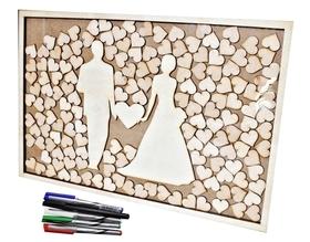KSIĘGA GOŚCI puzzle PARA MŁODA drewniana ramka