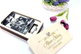 Album zdjęcia pudełko pendrive ślub inne drewniany