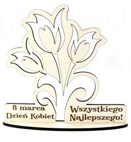 Drewniany Prezent Dzień Kobiet Mamy Dedykacja