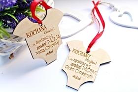CHRZEST zaproszenie ZAWIESZKA upominek pamiątka dla chrzestnych zapytanie chłopca śpioszki