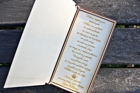 Pudełko koperta pieniądze życzenia GRAWER drewniane