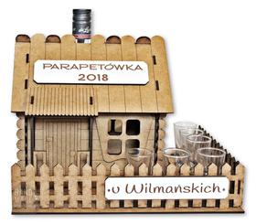 Domek Parapetówka PARAPETÓWKĘ alkohol prezent pudełko