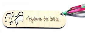 zakładka do książki MYSZ tekst grawer imię prezent upominek drewniany