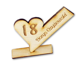 WINIETKA stół 18stka ŚLUB grawerem drewniane 40