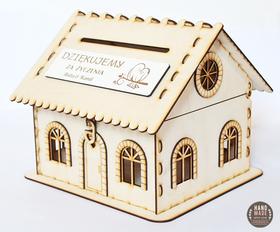 Domek PUDEŁKO box skrzynka na koperty życzenia podziękowania ślub urodziny
