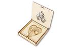 Pudełko na obrączki ślubne ślub wesele tacka drewniane