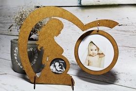 RAMKA zdjęcie USG ciąża podwójna pamiątka MAMA