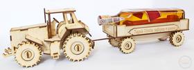 DUŻY Traktor ZABAWNY PREZENT urodziny ciągnik model drewniany