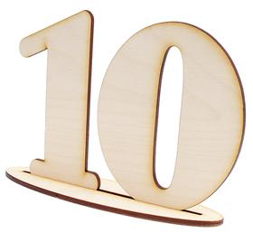 Cyfry na stół weselny liczby numeracja stołu drewniane dekoracje 1-10 eko