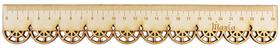 LINIJKA SZKOLNA KORONKOWA drewniana koronka z imieniem GRAWER laser PREZENT
