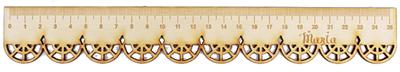 LINIJKA SZKOLNA KORONKOWA drewniana koronka z imieniem GRAWER laser PREZENT (1)