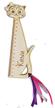 LINIJKA kot z IMIENIEM drewniana z kotkiem GRAWER laser drewno matematyka zakładka do książki (1)
