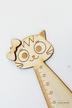 LINIJKA kot z IMIENIEM drewniana z kotkiem GRAWER laser drewno matematyka zakładka do książki (3)