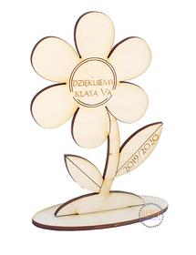 DZIEŃ NAUCZYCIELA kwiat dla wychowawcy profesora dyrektora podziękowanie życzenia drewniane z grawerem
