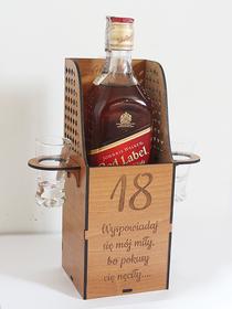 KONFESJONAŁ zabawne pudełko na alkohol URODZINY 18 30 40 60 prezent box opakowanie