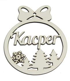 Bombka z Twoim imieniem zawieszka na choinkę świąteczna dekoracja gwiazdka Boże Narodzenie