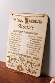 DYPLOM osiemnastka CERTYFIKAT urodzenia pamiątka zabawna tabliczka na ścianę życzenia