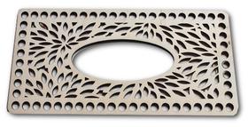 CHUSTECZNIK baza do pudełka na chusteczki, drewniana, szydełkowanie, z szydełka i sznurka bawełnianego