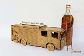 STRAŻ POŻARNA wódkowóz dla strażaka wódowóz tir na alkohol ciężarówka samochód pudełko na wino urodzinowe