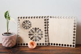 Kwadratowy komplet baz do splatania na szydełku denko koszyk pudełko w kwadracie BAZA kwiaty ażur