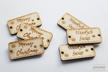 Metka metki do koszyka handmade drewniane wszywka guzik napis ozdoba dekoracja 10 sztuk (3)
