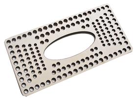 CHUSTECZNIK baza do pudełka na chusteczki, drewniana, szydełkowanie, z szydełka i sznurka bawełnianego, kropki
