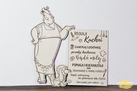PLAKAT tablica na ścianę sentencja REGUŁY ZASADY zabawne do kuchni dekoracja