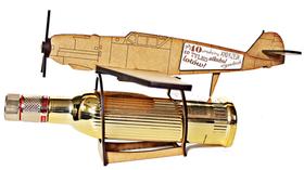 SAMOLOT bombowiec PREZENT URODZINY kawalerskie stojak na alkohol pudełko skrzynka model samolotu emerytura