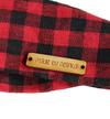 Metka metki do koszyka handmade drewniane jeansówka TWÓJ TEKST 4x1cm wszywka guzik napis ozdoba dekoracja 10 sztuk (3)