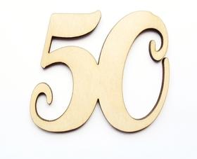 50 cyfra DECOUPAGE sklejka liczba NAPIS scrapki