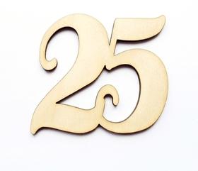 25 cyfra DECOUPAGE sklejka liczba NAPIS scrapki